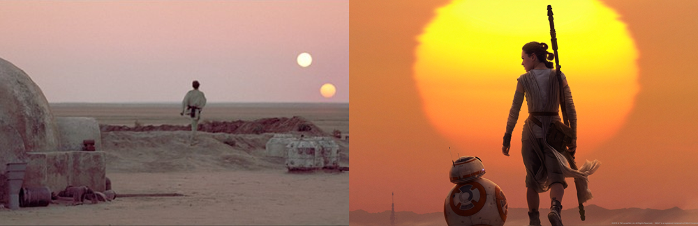 The Force Awakens Binary Sunset