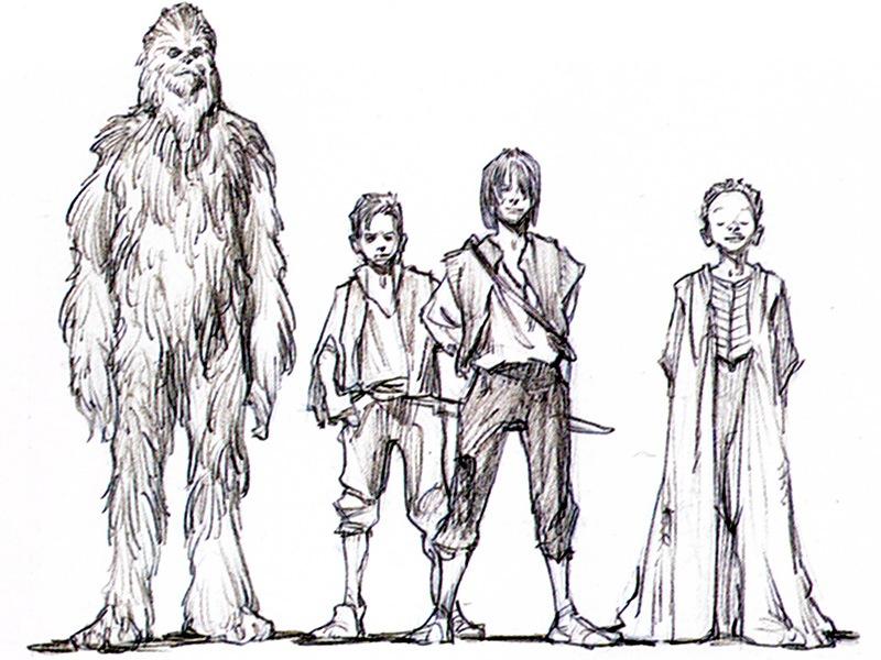 Nicht verwendetes Konzept eines jungen Han Solos in Die Rache der Sith