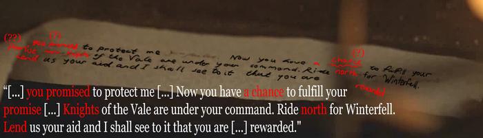 Sansa Letter