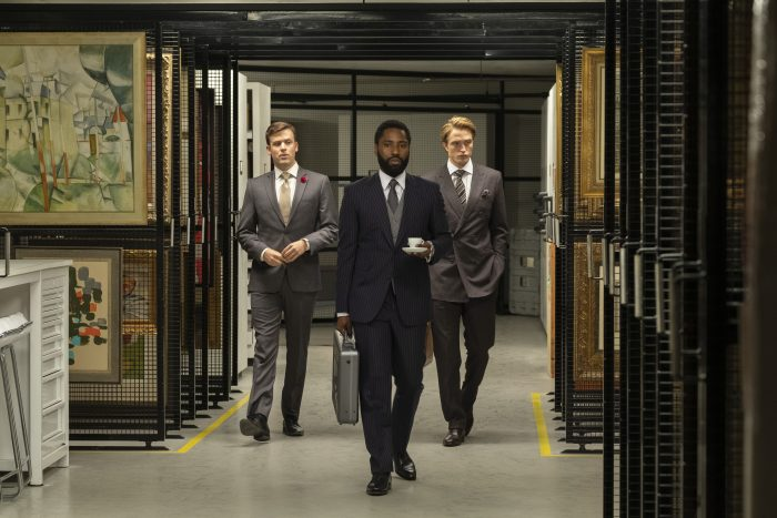 "John David Washington und Robert Pattinson in Christoper Nolans ""Tenet""."